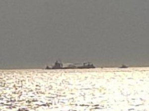 'M/V Koza' adlı gemi, İzmir'de alev alev yandı