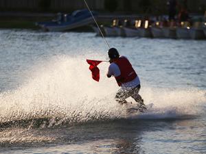 Şanlıurfa'da kano ve su kayağı yarışları düzenlendi