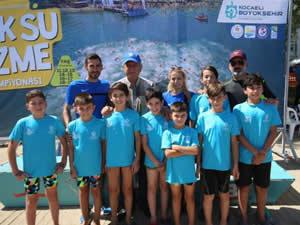Kocaeli'de Açık Su Yüzme Şampiyonası yapıldı