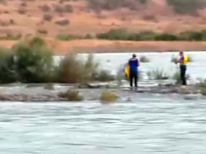 Kalehan Barajı'nda su seviyesi yükseldi, 5 kişi mahsur kaldı