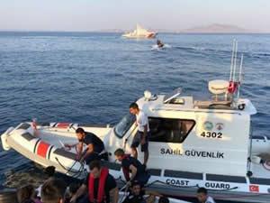Bodrum açıklarında 9 kaçak göçmen yakalandı