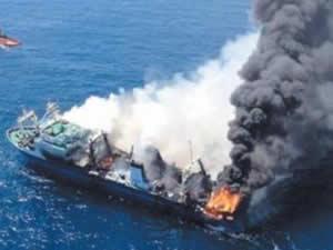 M/V Koza, Aliağa Gemi Söküm Tesisleri'ne çekildi