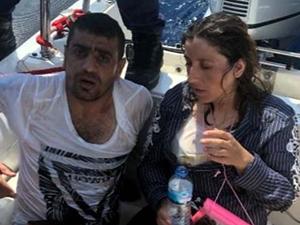 Bodrum açıklarında jet-ski'de 2 göçmen yakalandı