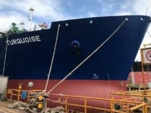 Türkiye'nin ilk FSRU gemisi 'TURQUOISE' denizle buluştu