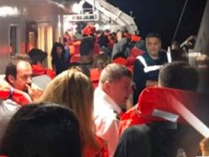 875 yolcusu olan Eleftherios Venizelos'ta yangın çıktı!