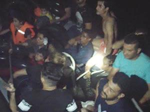 Kuşadası Körfezi'nde 25 kaçak göçmen yakalandı