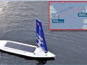 İnsansız robot tekne Atlantik'i aştı