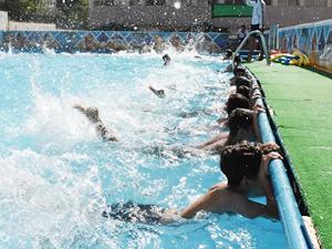 Mardin'de 65 bin çocuk yüzme havuzlarından faydalandı