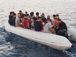 Bodrum açıklarında 37 kaçak göçmen yakalandı