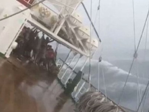 Rusya açıklarında bir gemi batma tehlikesi yaşadı!