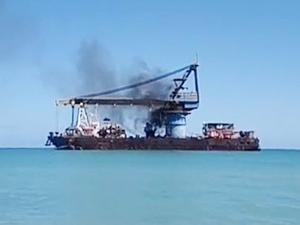 TITAN II'de Ciudad del Carmen açıklarında yangın çıktı