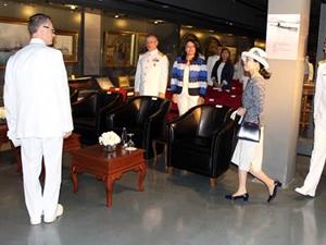 Japon Prenses, 'Seiki' gemisinin maketini Deniz Müzesi'ne hediye etti