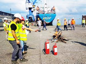 Hopa Limanı'nda 'Acil Müdahale Eylem Planı Tatbikatı' yapıldı