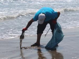 Hatay'da deniz ve sahillerden 645 ton atık toplandı