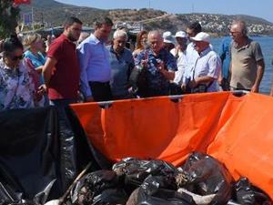 Foça'daki petrol sızıntısıyla ilgili hakim ve bilirkişilerden inceleme