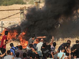 İsrail'den Gazze ablukasını kırmak isteyen Filistinlilere müdahale