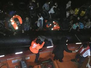 Kuşadası'nda  46 kaçak göçmen yakalandı