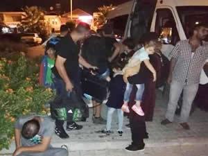 Fethiye'de 65 göçmen ile 7 organizatör yakalandı