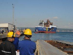 Rüzgar türbini destek gemisi denize indirildi