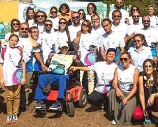 The Bodrum Cup'ta yatların bayraklarını Bodrum Engelliler Sağlık Vakfı'nın öğrencileri verdi