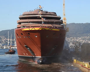 Ritz-Carlton'ın ilk yolcu gemisi Vigo, İspanya'da denize indirildi