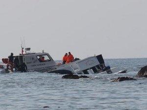 Muğla'da mülteci teknesi battı