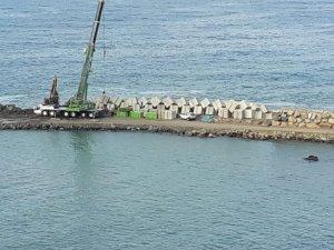 Cide Denizkonak Balıkçı Barınağı'nda çalışmalar hız kazandı