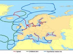 Avrupa Birliği'nden skandal harita! Türk karasularını gasp ediyorlar