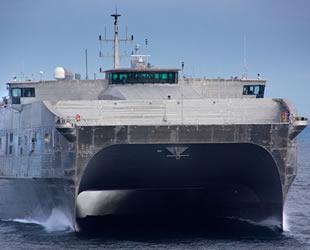 'USNS Puerto Rico' adlı hızlı transfer gemisi, ABD Donanması'nda göreve başladı