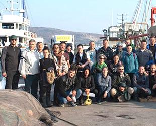 Araştırmacılar, Foça'da koruma altındaki deniz canlıları için toplandılar