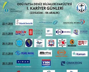 Ordu Üniversitesi Fatsa Deniz Bilimleri Fakültesi I. Kariyer Günleri, Fatsa'da yapılacak
