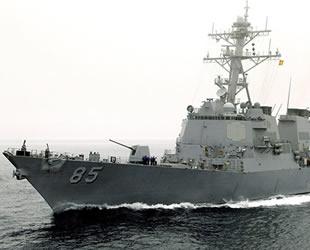 'USS McCampbel' destroyeri Rusya'ya gözdağı verdi