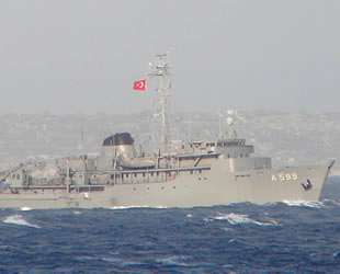 TCG Çeşme, Akdeniz'de 8 noktada çalışmalarını tamamladı