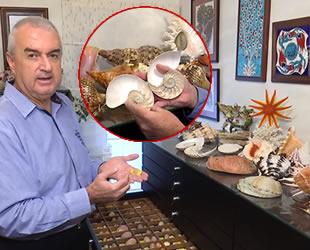 Fikret Özer, 23 yılda 12 bin deniz kabuğu topladı