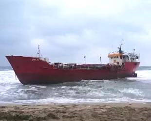 'Salim' isimli gemi, Kıbrıs'ta karaya oturdu