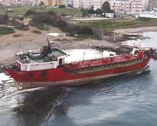 Gazimağusa'da karaya otururan 'SALİM N1' isimli gemi kurtarıldı
