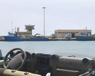 Libya'da limanları, Rus paralı askerler koruyor