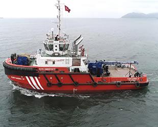 YÜTEK'in inşa ettiği KURTARMA 12 römorkörü  denize indirildi