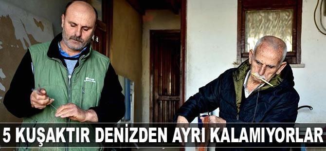 Beş kuşaktır balıkçılık yapan Trabzonlu aile, denizden ayrı kalamıyor