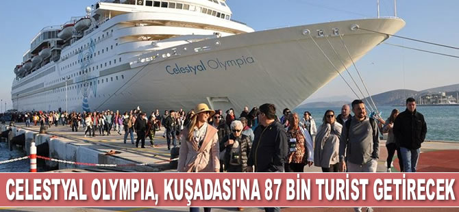 Celestyal Olympia, Ege Port Limanı'na demirledi