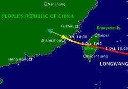 Longwang Tayfunu Tayvan'ı Vurdu