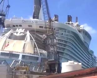 'Oasis of the Seas' isimli yolcu gemisinin üzerine vinç devrildi: 8 yaralı