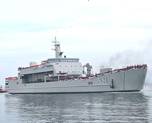 Endonezya'nın 'KRI Teluk Lada' isimli tank çıkarma gemisi göreve başladı