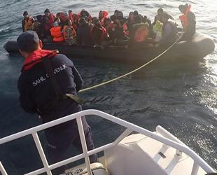 Kuşadası Körfezi'nde 92 kaçak göçmen yakalandı
