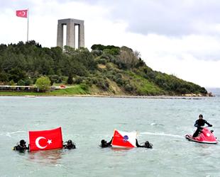 Türk Polis Teşkilatı'nın 174. yılını denizde Türk Bayrağı açarak kutladılar