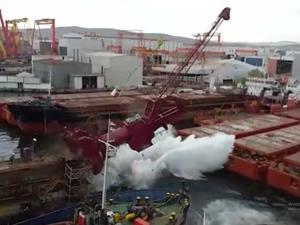 Kuzey Star Tersanesi'ndeki kazayla ilgili GİSBİR'den açıklama geldi