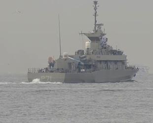 Yunan savaş gemisi HS Ritsos, İstanbul Boğazı'ndan geçti
