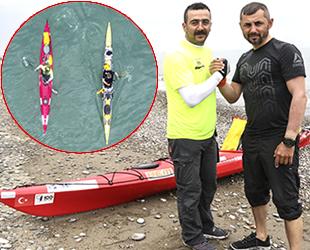 İstanbul'dan kano ile yola çıkan ekip, Abana'ya ulaştı