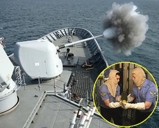 TCG Salihreis Fırkateyni tarafından kara bombardımanı atışları yapıldı
