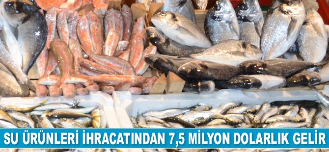Sinop'ta su ürünleri ihracatından 7,5 milyon dolarlık gelir elde edildi